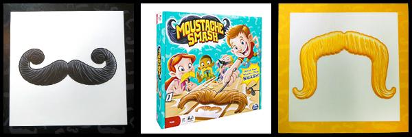 Moustache Smash  game parts cards Toy Moustache Mustache