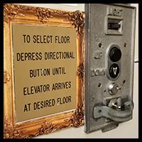 elevator sign for forrest-pruzan creative